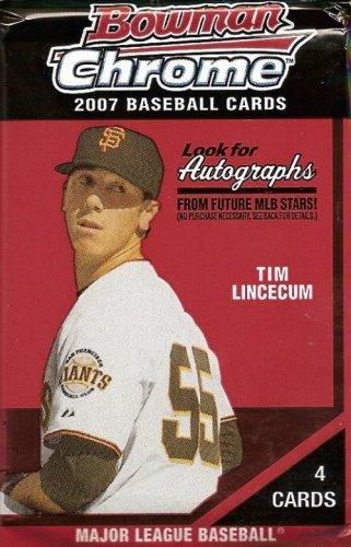 Topps 2007 Bowman Chrome Baseball Cards Unopened HOBBY PA...