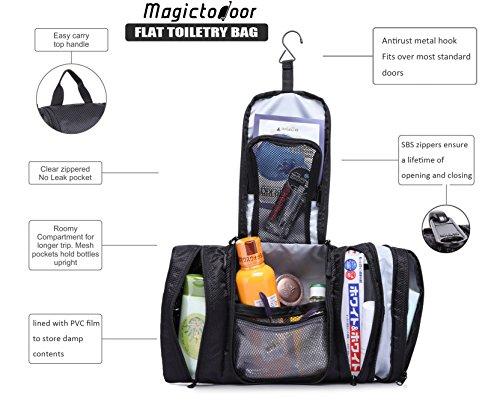 Magictodoor Hanging Toiletry Kits Flat Bathroom Bags Cosmetic Bag