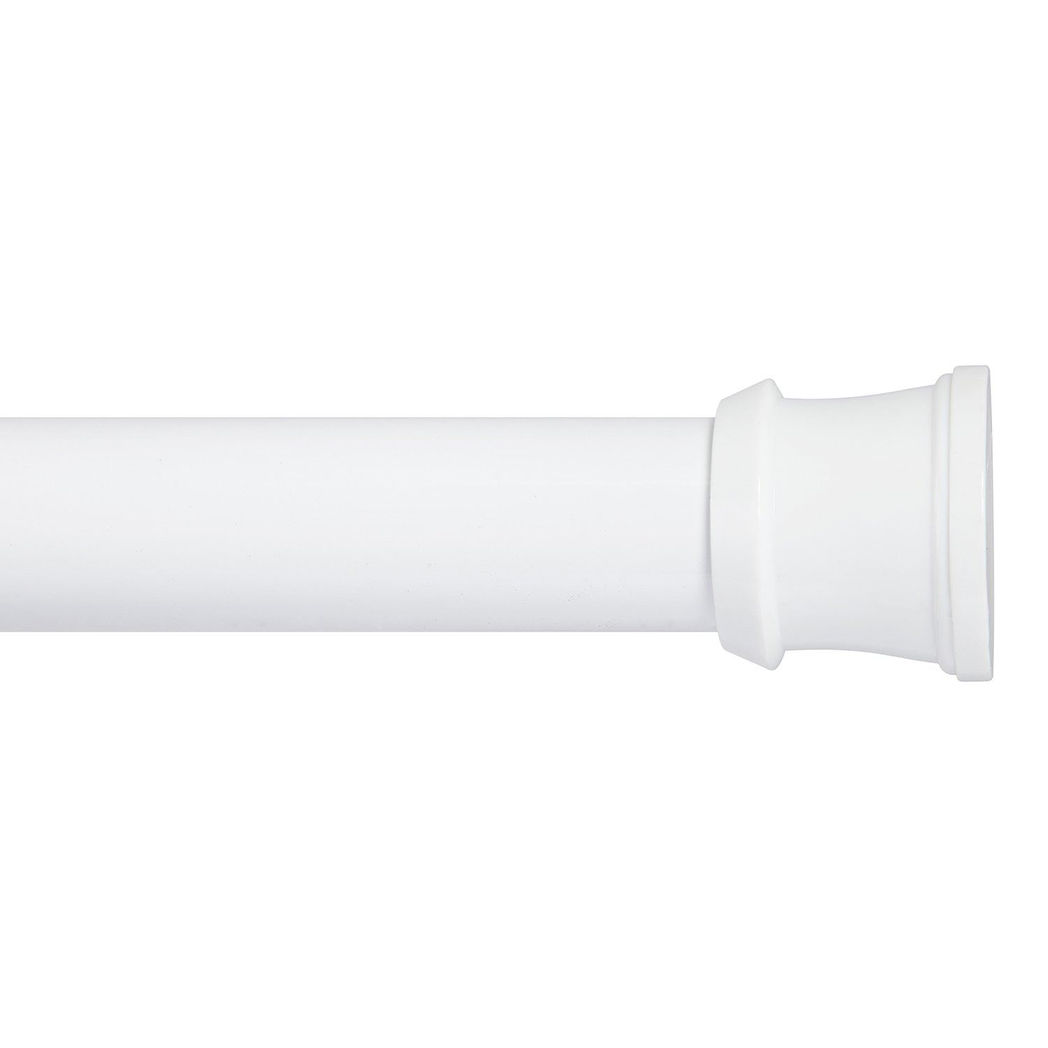 Kenney Twist & Fit No Tools Tension Shower Curtain Rod, 42-72'', White