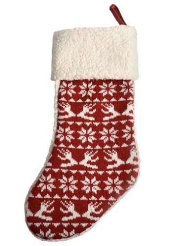Barkley Dog - Boots & Barkley Pet Dog Cat Holiday Stocking Red White Knit Sweater Pattern