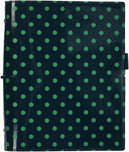 Spot Domino - Filofax 2019 A5 Domino Organizer, Patent Pine with Spots, Paper Size 8.25 x 5.75 inches (C022518-19)
