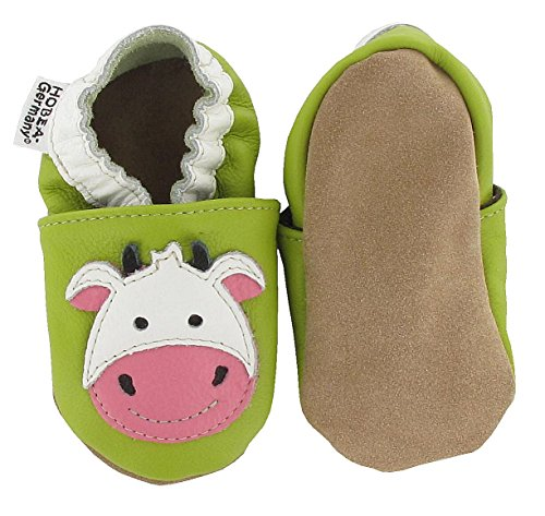 HOBEA-Germany , Chaussons pour fille Vache 24/25 (24-30 Monate)