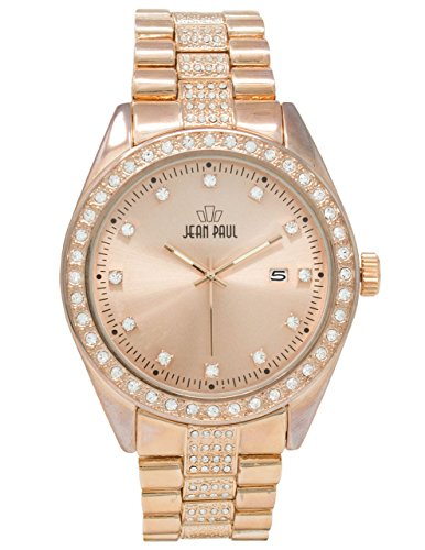 Jean Paul Men's Quartz Metal and Alloy Watch, Color:Rose Gold-Toned (Model: 47069) Gold Dakota Rose