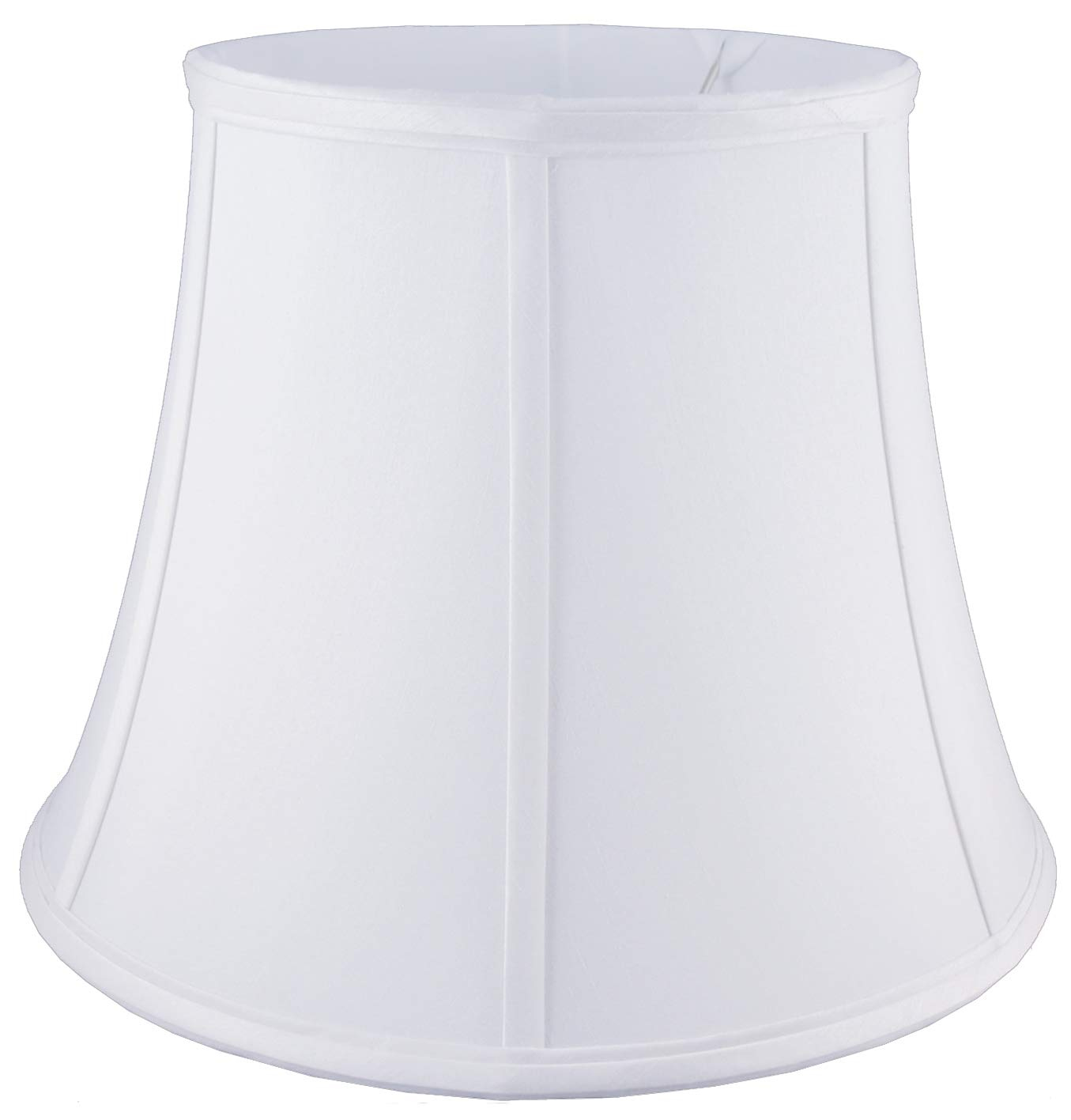 American Pride 11''x 17''x 12.75'' Round Soft Shantung Tailored Lampshade, White