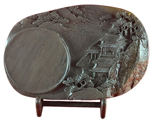 Chinese Zhaoqing Meihua Keng Duan Yan Large Size Ink Stone Inkstone 35x23x5cm by Charming China Ink Stone