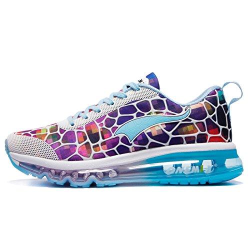 onemix Chaussures de Course pour Femme Air Baskets avec coussin d'air Chaussures de sport Chaussures de Course Route Chaussures de sport Bunt