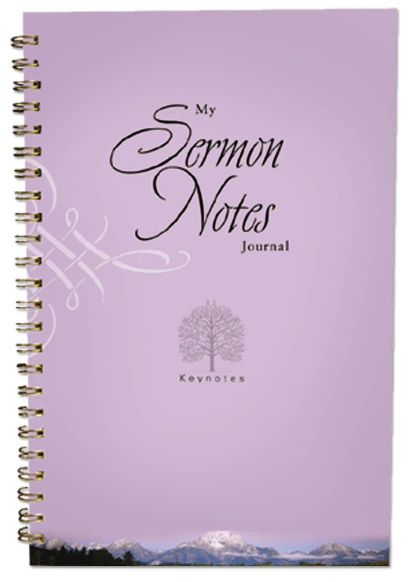 Amazon.com: MY SERMON NOTES JOURNAL (KEY NOTES) (9781593106508 ...