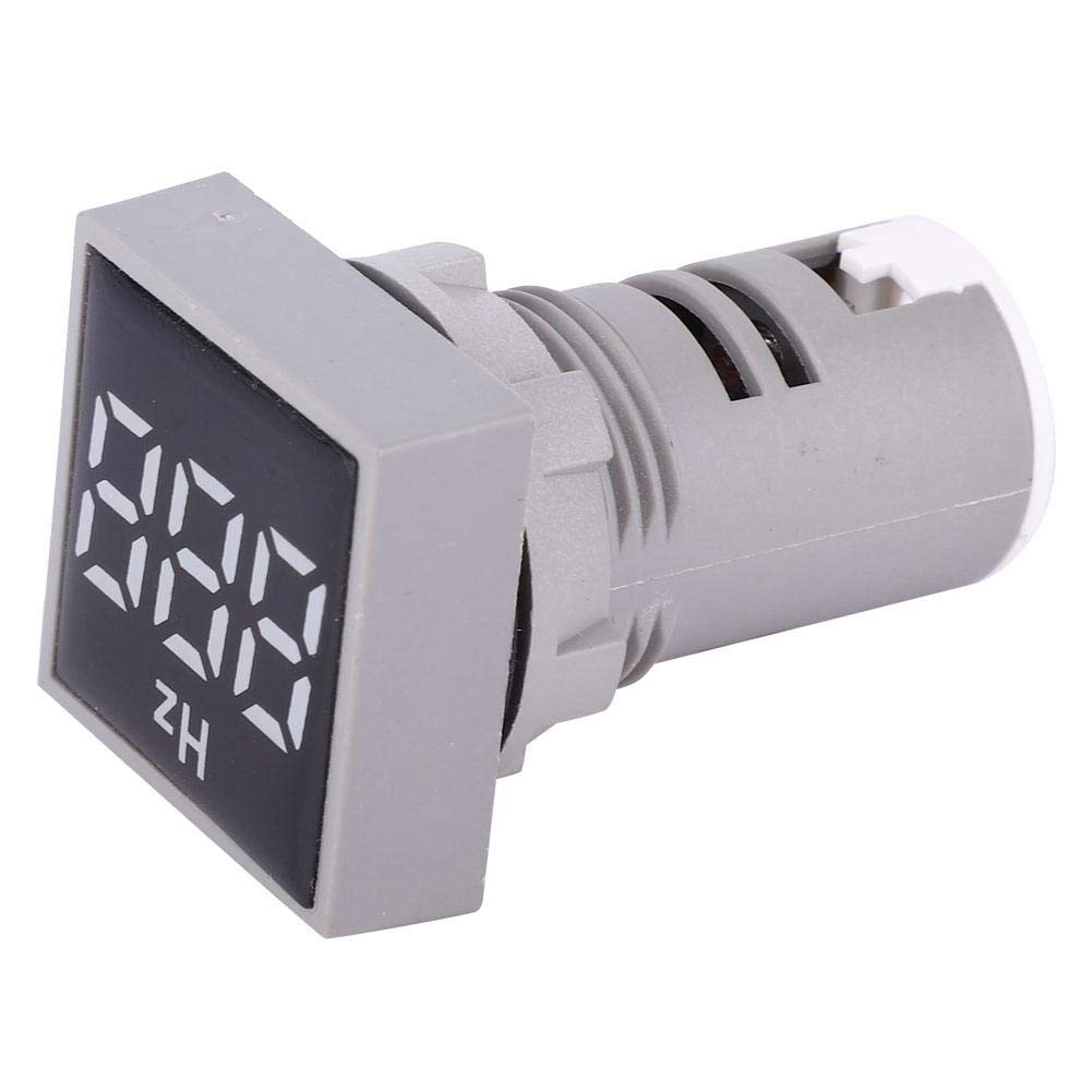 Yellow AC100-380V 20-75Hz Square Digital Frequency Red+Blue+Yellow+Green+White LED Indicator Indicator Lights