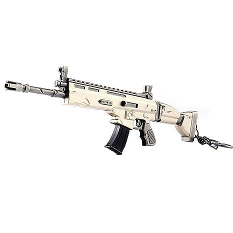 Alicedreamland Llavero - 17 CM Arma Scar Rifle de Asalto Modelo de Juguete de Aleación -Juguetes de Réplica de Armas para Niños Adultos, Decoraciones