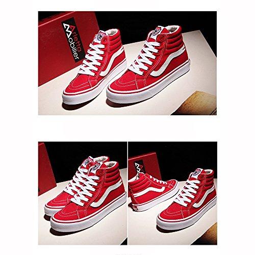 Noir Couleur CN35 LVZAIXI en Haut Rouge version 5 chaussures plaque douillet UK3 chaussures chaussures EU36 étudiant coréenne chaussures toile taille top ScSwH5q6O