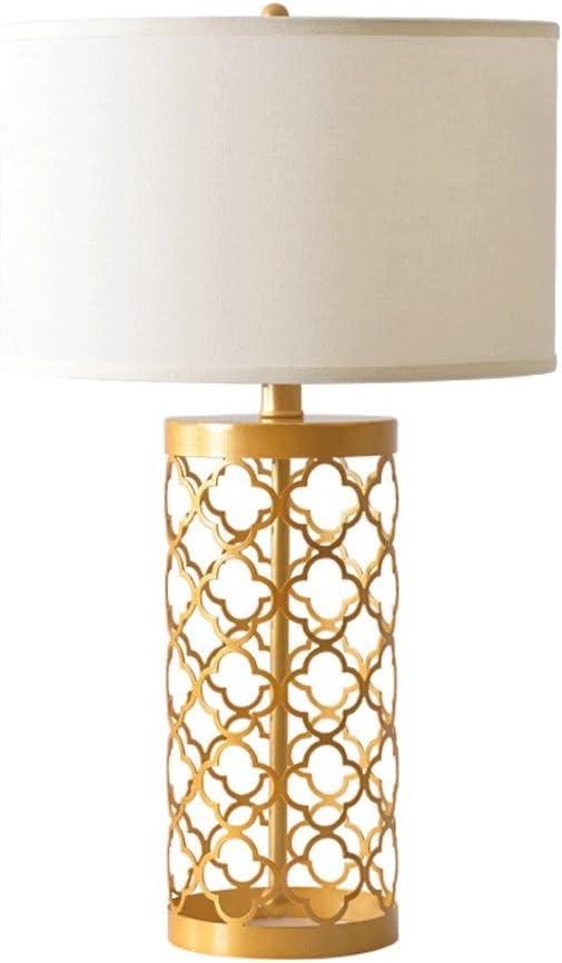 Lámparas de Escritorio Lámparas de Mesa Lámpara Dorada LED, Base ...