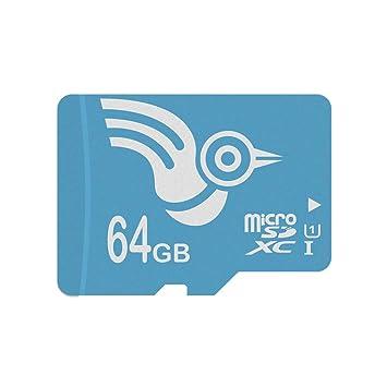 ADROITLARK Tarjetas MicroSD de Alta Velocidad de 64 GB Tarjetas de Memoria microSD de Clase 10 para Go Pro Tablet, teléfono Inteligente, cámara, ...