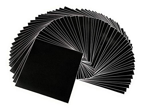 - Matte Black Adhesive Vinyl Sheets - 50 Pack 12