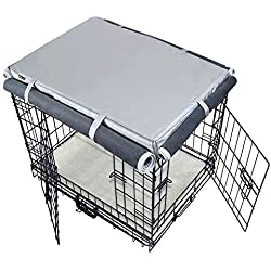 """Mr.You Pets Dog Indoor/Outdoor Crate Covers,Heavy Duty Waterproof Durable with Cashmere Fabrics for Winter,Four Sides Open Zipper and Six Fastened Straps (35"""" 23"""" 23"""" inches L)"""