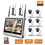 Wireless Surveillance Camera System Forcovr 8 Channel 1080P Home Security...