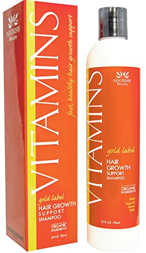 Nourish Beaute Premium Vitamins Hair Growth Shampoo - Stimulates Hair Regrowth in Clinical Trials– Fast Hair Loss Treatment for Men and Women - Sulfate Free, Made in the USA