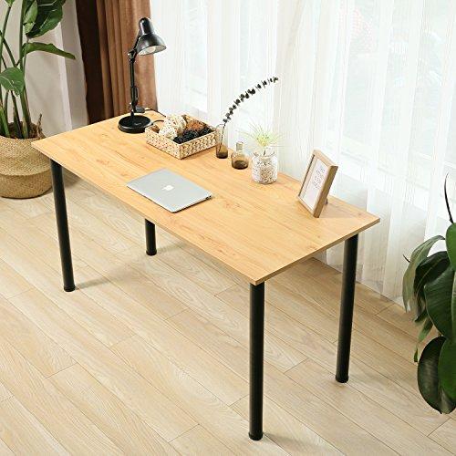 Eyabuynar Computer Table Writing Desk Workstation Office Desk (55x23.6 inch, Walnut + Black Leg) by Eyabuynar