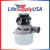 Central Vac Vacuum Motor 3 STAGE with METAL HORN and Wires Will Fit Most Brands 5.7 120 Volt 1400 Watt by LifeSupplyUSA