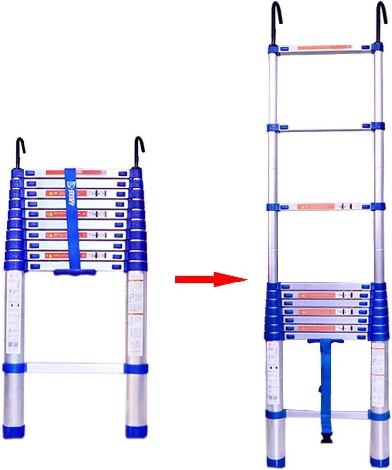 Escalera de tijera, telescópico extensible de aluminio que ensancha el antideslizante ligero portátil de Sion con el gancho (Size : 5.75m): Amazon.es: Bricolaje y herramientas