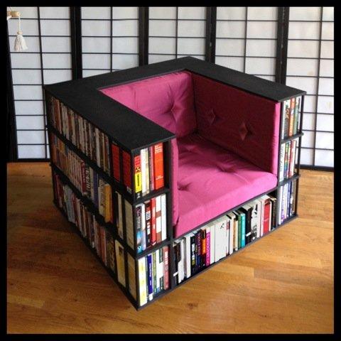 Amazon.com: Gentleman's Luxury Library Bookcase Chair In Black ...