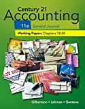 img - for Century 21 Accounting General Journal Working Papers 18-24 S book / textbook / text book