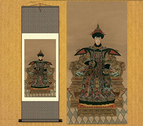Sunmir (TM Silk Scroll Painting Queen of The Qing Dynasty ()