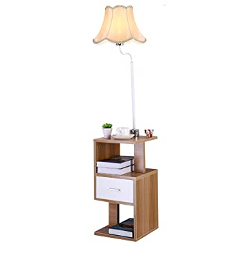 Home Mall  Holz Stehlampe | Moderne Minimalistische Stil Stehlampe Mit  Tisch | Für Wohnzimmer Schlafzimmer