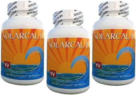 SolarCal-D Marine Calcium plus Vitamin D (3 Bottles, 90 Tablets each)