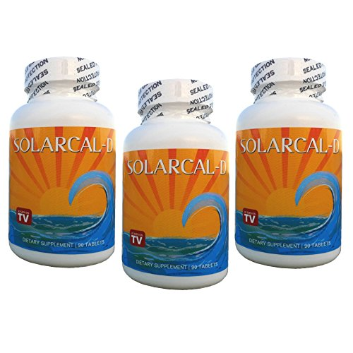 SolarCal-D Marine Coral Calcium plus Vitamin D (3 Bottles, 90 Tablets each)
