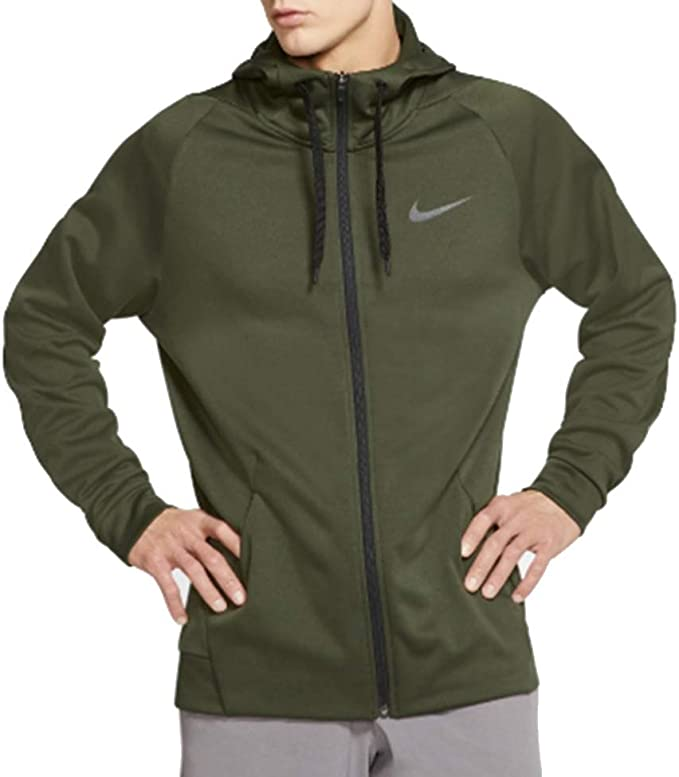 Nike Therma Training Hoodie Pullover Green Dri fit Mens Small
