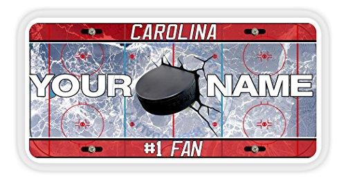 BleuReign(TM) Personalized Custom Name Hockey Team Carolina Car Vehicle License Plate Auto Tag
