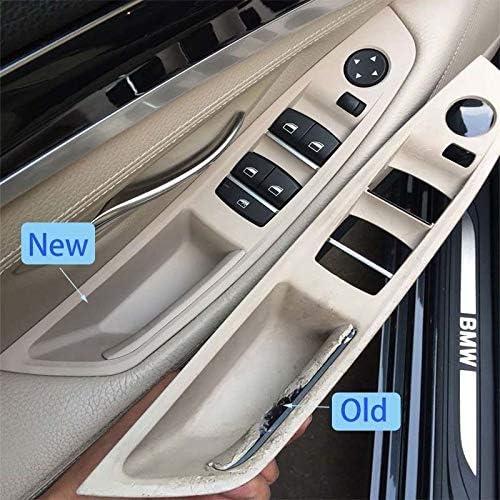 Colore : LHD Black NO LOGO KF-Manico LHD Driver Laterale Maniglia di Portello Interno Pannello di Copertura for BMW Serie 5 F10 F11 F18 520 523 525 528 530