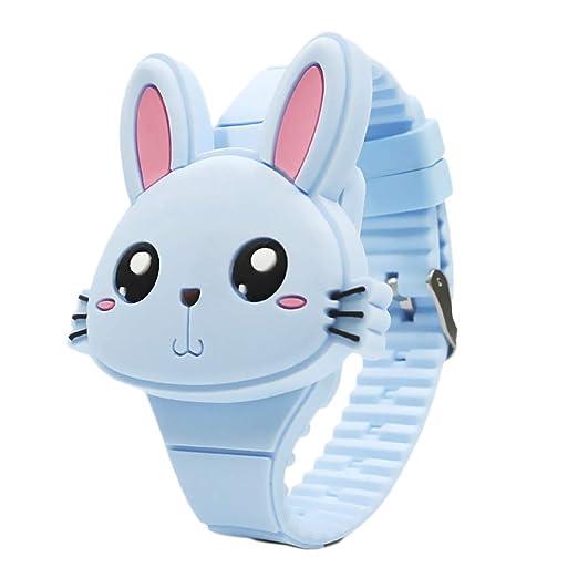 Reloj de Pulsera Digital para niños Relojes Infantiles Reloj de niña Conejos Reloj Deportivo para niños Reloj led Digital para niñas (Blue): Amazon.es: ...