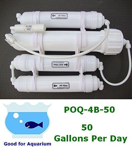 Gpd Reverse 50 Osmosis (0PPM Portable 50 GPD Reverse Osmosis RO+DI Filtration POQ-4B-50)