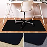 Office Marshal Black Office Chair Mat - 30'' x 48'' - Hard Floor Protection - No-Recycling Material - High Impact Strength