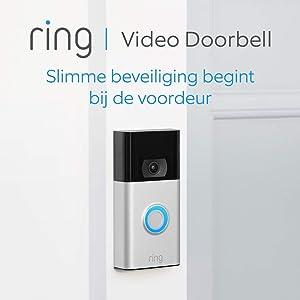 De nieuwe Ring Video Doorbell | 1080p HD-video, geavanceerde bewegingsdetectie, en eenvoudige installatie (2. gen) | Inclusief proefabonnement van 30 dagen op Ring Protect Plus
