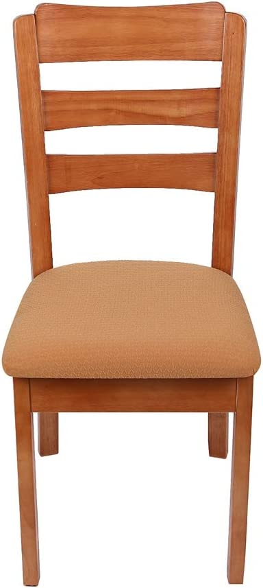 cola-site 2/4/6 Pcs Kitchen Stretch Dining Chair Cover Spandex Jacquard Seat Protector Covers Elastic Seat Case Living Room Slipcover,Orange,2 Pcs