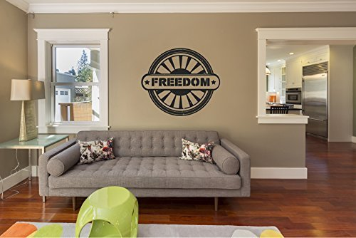 Engine Freedom (Freedom Airplane Jet Engine Turbine Blades Silhouette Vinyl Wall Words Decal Sticker)