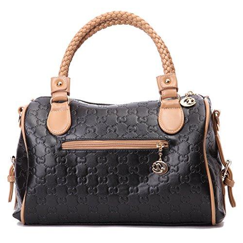 Lederleiter Europa Damen schultertasche leder handtasche klein henkeltasche Metallgriff Abendhandtasche
