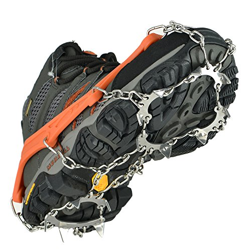 Universal Crampons Snow Traction Cleats - 13 Teeth Claw S...