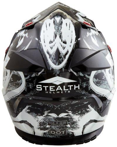 Stealth Flyte Off-Road Helmet with Kaos Graphic (Black, Medium)