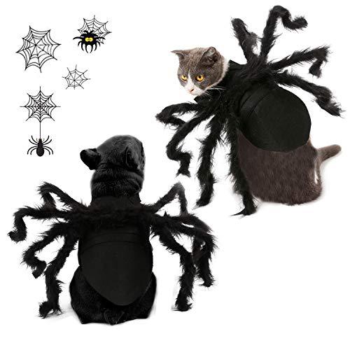 Vehomy Halloween Pet Cat Spider Costume Harness