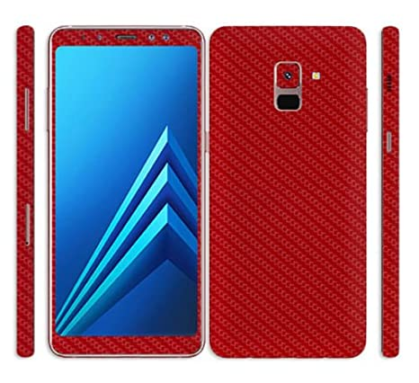 36ceea25e GADGETS WRAP Samsung Galaxy A8 Plus Red Carbon Skin for  Amazon.in   Electronics