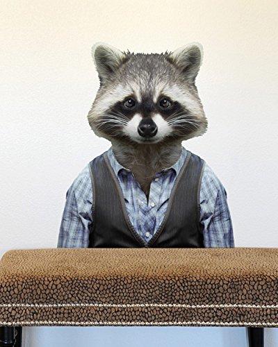 BLIK Surface Graphics Zoo Portraits: Raccoon wall (Blik Wall Decals)