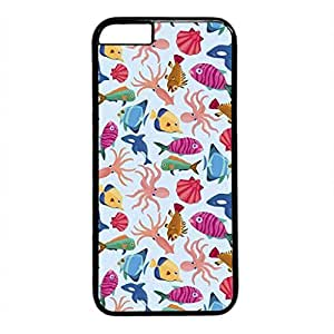 Small Fish Shrimp Persalized Cover Case for Apple iPhone 6 plus 5.5 Black