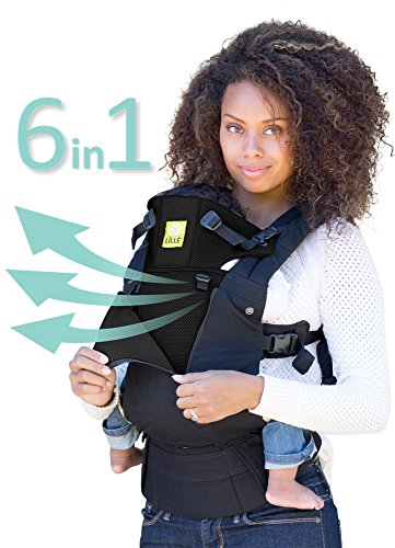 LÍLLÉbaby The COMPLETE All Seasons SIX-Position, 360° Ergonomic Baby & Child Carrier, Black - Cotton Baby...