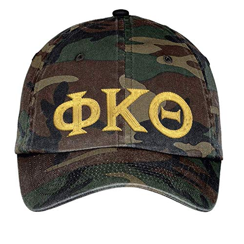 Greekgear Phi Kappa Theta Lettered Camouflage Hat Military ()