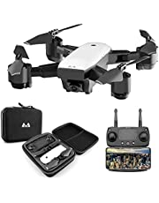 KINGBOT RC Drone, 2.4Ghz Foldable Quadcopter Home Toys WiFi FPV Remote Control Drones with 120°Wide-Angle 5mp 1080P Camera & Altitude Hold Functions photo