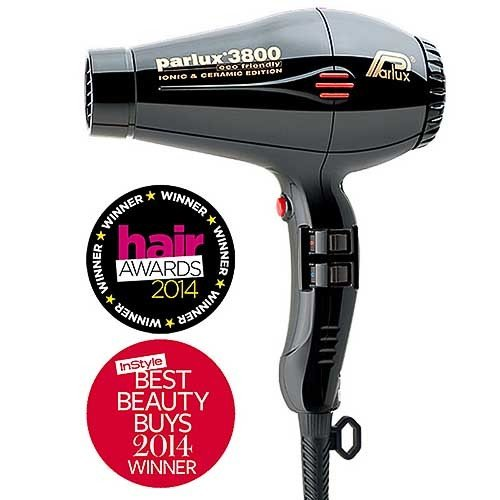 Parlux 3800 Hair Dryer - Black 165BLK