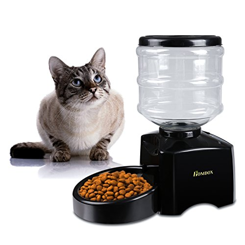 New 5.5 Liter Large ABS Material Automatic Pet Feeder Automatic Cat Feeder Dog Feeder Cat Dry Food Portion Control